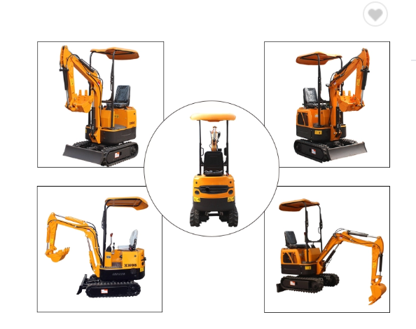 Chinese XT10 1 ton crawler small digger mini excavator price for sale
