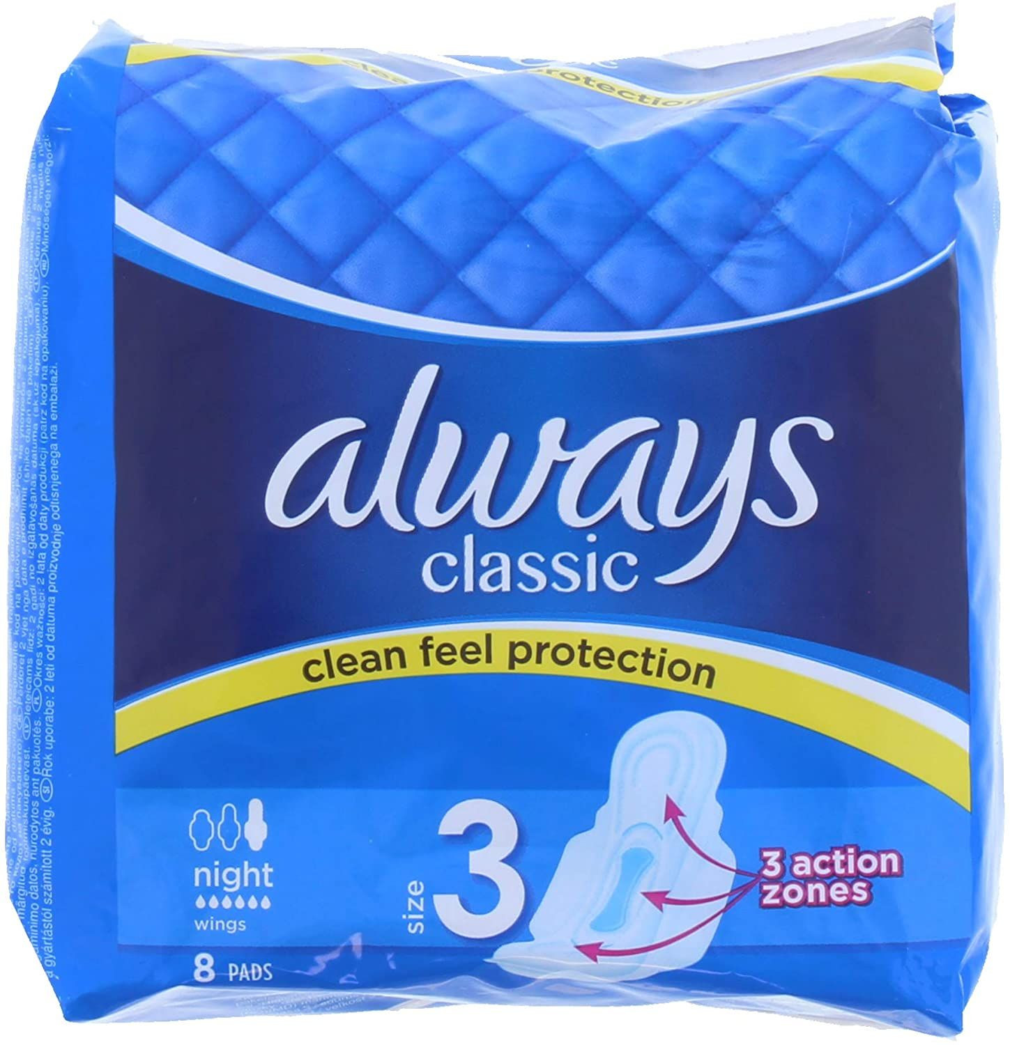 Always Classic 8 Nighttime Pads