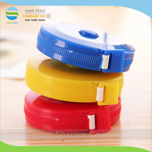 1.5M Mini Round Tape Measure in Fiberglass tape and PVC Shell with Customized Logo Printing