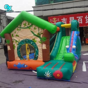 2018 Factory price colourful outdoor inflatable happy slides inflatable bouncer