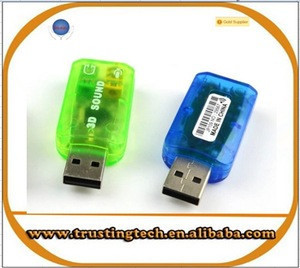 3D USB Sound Card USB External USB Sound Card Audio Adapter Mic Speaker Audio Interface For Laptop PC MicroData