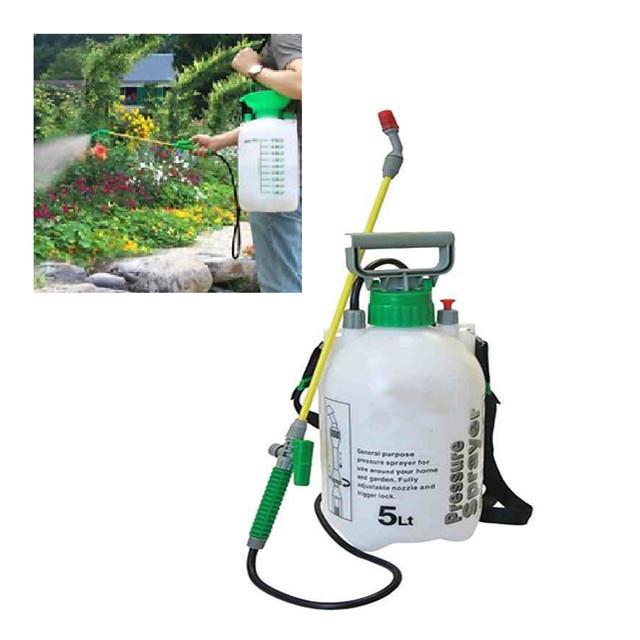 5L Knapsack Kill Weeds Chemicals  Pressure Pump Manual Garden Sprayer
