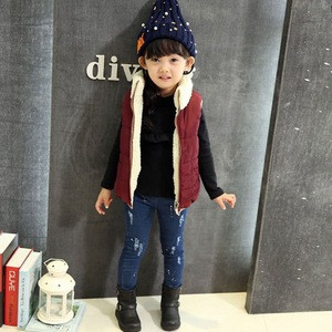 B20112A Children two sides wear Cotton-padded Vest Waistcoats
