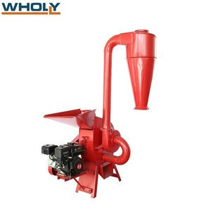 Biomass wood corn maize grain rice hull paddy husk hemp straw hammer mill crusher machine