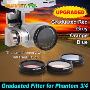 Camera Polarized Filters Graduated Filters Graduated Grey/ Red/ Orange/ Blue for DJI Phantom 4/ 3 Series