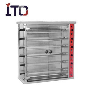 CH-6P Vertical Big Stainless Steel Commercial Gas Chicken Rotisserie