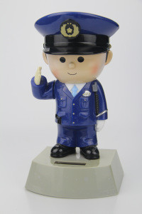 Custom Quteness Police salaam Solar Car decoration Toy
