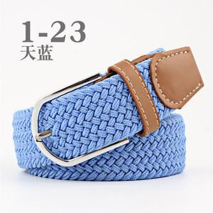 Fashion Unisex Double D Ring Webbing Woven Fabric Belts Canvas Cotton Belt