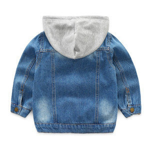 Fashion unisex kids hoodie cool casual cartoon jeans denim jacket