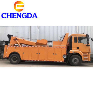 Heavy Duty Shacman 8X4 35ton Integrated Tow and Crane Road Wrecker Truck