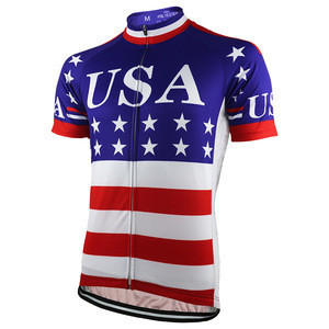 HIRBGOD New USA Flag Cycling Jersey Men Summer 2020 Short Sleeve DH Bike Shirt American Pro Team Stripe Bicycle Clothing,NR161