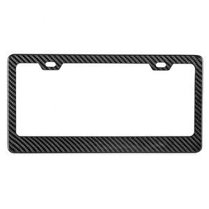 Hot America size two hole carbon fiber motor vehicle license plate frames