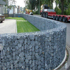 Hot dipped galvanized stone cage/rock filled gabion baskets /gabion box