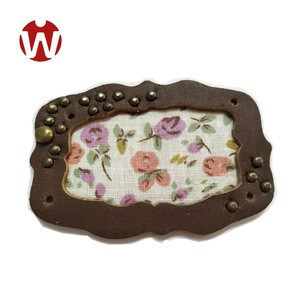 Latest Fashion Perfect Metal Rivet Covered  Leather Patch