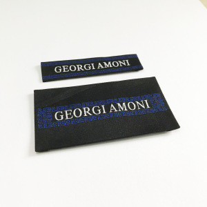 Name Logo Trademark woven embroidered woven label