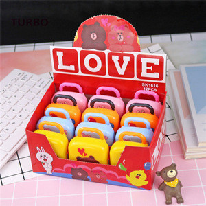 OEM design unique products stationery Logo customized free sample china Cute school pencils and animal erasers sets for kids