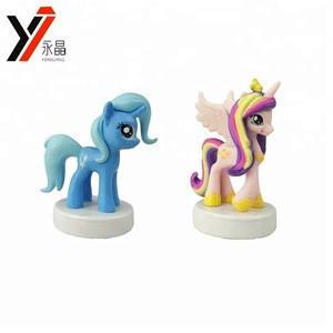 (OEM) Different Styles Cartoon Horse Figure Trixie Pony Toy Custom Stamp