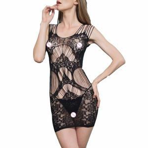 Plus Size Bodystocking Sexy Chemise Sheer Nylon Body stocking