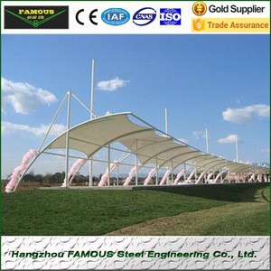 PVC PVDF PTFE cover membrane structure for stadium and carport