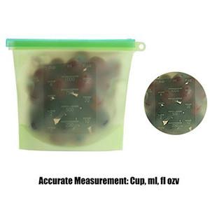 Reusable Silicone Food Storage Bag, Food Grade Vegetable Storage Bag Versatile Preservation Bag Container for Fruits Vegetables
