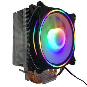 RGB CPU Cooler LED Air Heatsink New 4 Pipes Universal Intel AMD PC Processor Cooling Fan for Desktop Computer
