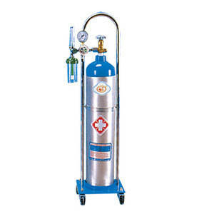 Small medical oxygen gas cylinder
