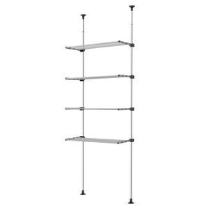 WELLEX - SJG Series Pole Drying Rack ceiling to floor with spring tension Adjustable Garment Rack Clothing Organizer