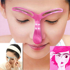 Wholesale DIY Beauty Eyebrow Template Stencils Make Up Tools individual blister pack for semi permanent makeup microblade