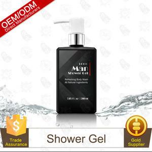 Wholesale refreshing liquid soap skin whitening shower gel for man