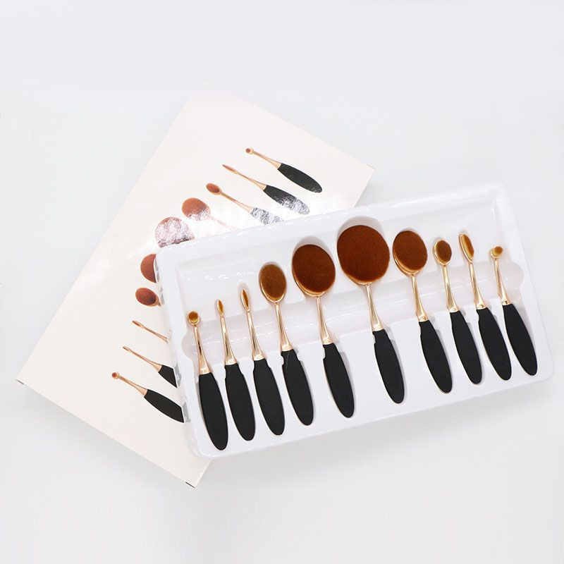 Import 10PC cosmetic brush set from China