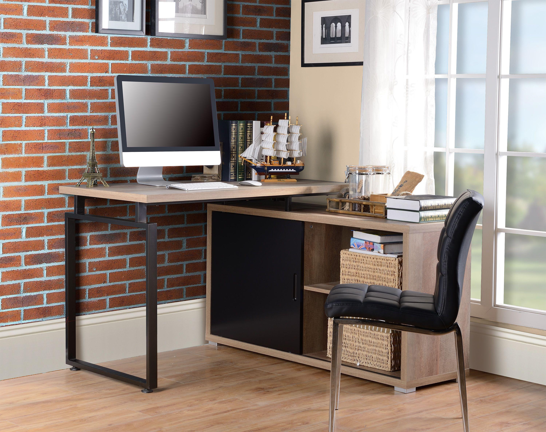 L shape modern ergonomic laminate office furniture computer table desk wood executive design