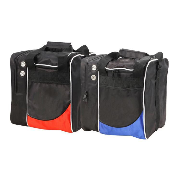 Lightweight sturdy bowling ball bag with padded ball holder and shoe pocket