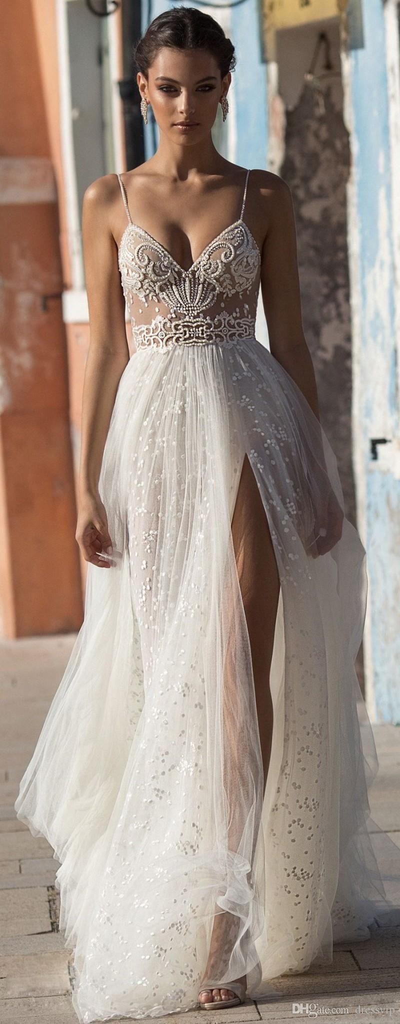 Stunning Full Tulle Skirt Wedding Dresses 2019 Romantic Lantern Sleeve Fairytale Countryside Bridal Gowns Wedding Vestidos