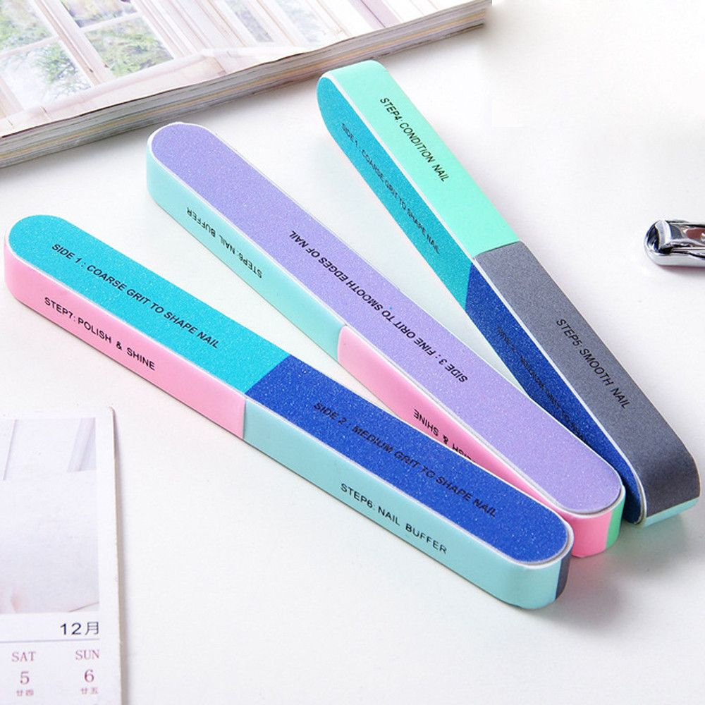Buffer manicure nail remover Creative Printing File Sanding Sand Six-sided Polishing File accessoires Tool nail buffer