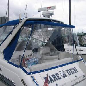100% polyester waterproof uv mildew protect pedal transparent film boat transparent window