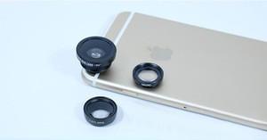 3in1 Fisheye + Wide Angle + Macro Detachable Lenses Set for all Mobile Phones