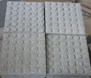 Anti-slip Rubber Outdoor Pavings StoneTile G654 Sesame Grey Granite Tactile Paving Stone for Pavement or Public Street Project
