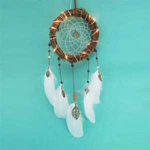 Art & Craft mini dreamcatcher LED light for decoration,dream catcher keychain