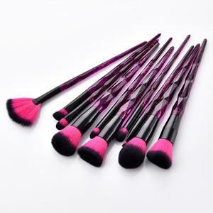 Beauty vegan eyeshadow 10 pcs makeup brush private label eyeliner makeup brush set
