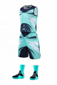 Best quality promotional 100% polyester basketball uniform set sportswear