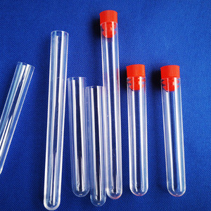 Cylindrical 10ml 12*100 polystyrene ps plastic test tube with snap cap for multi-purpose as storing sample