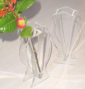 fashion acrylic tube flower vase,crystal flower vase home gifts decoration vase heart shape,narrow neck vase