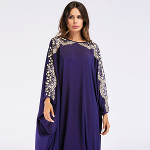 Islamic clothing muslim bat sleeve  dress embroidery abaya china wholesale women abaya