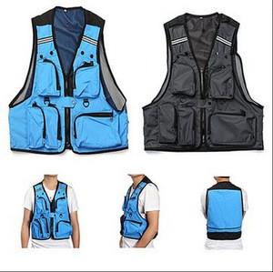 Multi Pockets Fishing Hunting Mesh Vest / Mens Outdoor Jacket / Pockets Mesh Vest