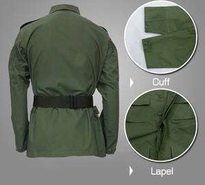 Olive green design security guard uniform battle dress uniform military uniform
