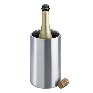 Premium Bottle wine chiller double walled stainless steel ice cooler buckets & stainless steel wine chiller