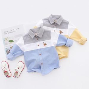 QX7475 The spring 2018 new boys shirt children cartoon long sleeve shirts