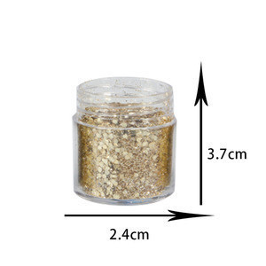 RG02 GOLD Nail Chunky Glitter Sequins Iridescent Flakes Cosmetic Paillette GLITTER  for Face Body Hair Nails
