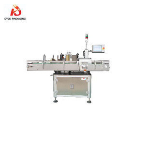 Round bottle label applicator/sticker labeling machine for wine