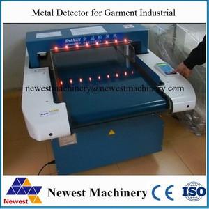 Textile Industrial alarm garment needle detector machine/metal detector for baby pampers diaper